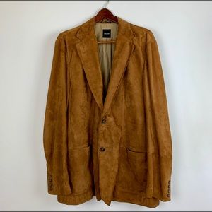 Boss Hugo Boss 100% Goatskin Suede Blazer 44R Coat